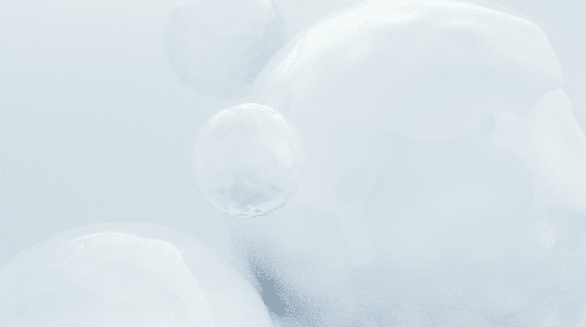 Faded background bubbles