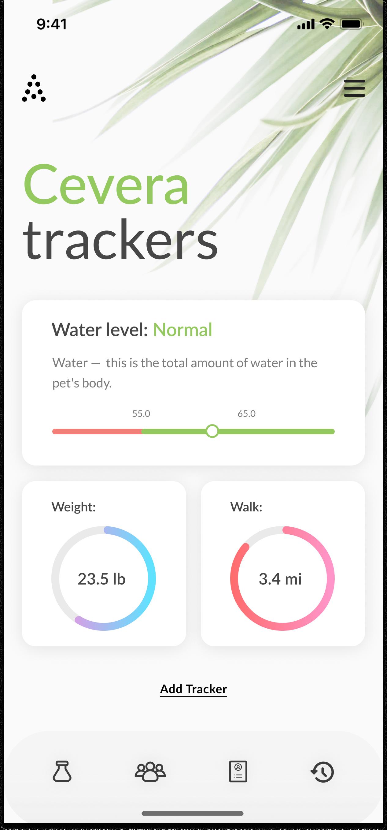 Cevera Tracker