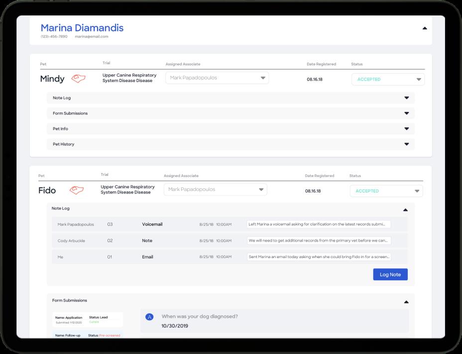 Anivive Trial Platform Screenshot